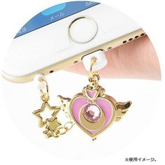 Sailor Moon Charm Character Pin 2 for iPhone - Crisis Heart Compact