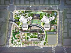 클릭하면 큰 이미지로 볼수 있습니다. Library Architecture, Landscape Architecture Drawing, Modern Landscape Design, Landscape Concept, Landscape Plans, Concept Architecture, Architectural Thesis, Architectural Floor Plans, Lanscape Design