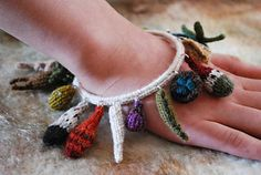 care of magical creatures charm bracelet 1 by tiny owl knits