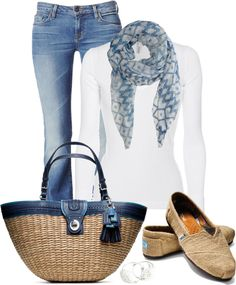 """""""Coach straw tote"""" by marincounty on Polyvore"""
