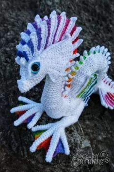 Sea Serpent: Kit (Crochet) With Extras, Earthfaire Cuddling On The Couch, Sea Serpent, Knitting Kits, Ocean Creatures, Close To My Heart, Yarn Colors, I Fall, One Color, Single Crochet