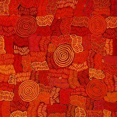 Awelye Bush Melon by Betty Mbitjana. Acrylic on linen.