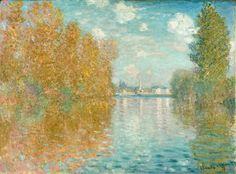 Autumn Effect at Argenteuil by Claude Monet in oil on canvas, done in Now in The Courtauld Institute of Art. Find a fine art print of this Claude Monet painting. Monet Paintings, Impressionist Paintings, Landscape Paintings, Claude Monet, Fondation Louis Vuitton, William Turner, Peter Paul Rubens, Autumn Painting, Post Impressionism