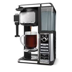 Features:  -Pod-free single serve.  -Built in frother to brew, froth and drink all in your favorite mug.  -Carafe can be used.  Product Type: -Single cup brewers.  Color: -Stainless Steel/Black.  Mate