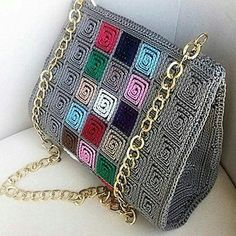 Discover thousands of images about Handmade Crocheted Multi Color Women Shoulder Bag 5 mm Plastic Diy Crochet Bag, Crotchet Bags, Crochet Clutch, Crochet Handbags, Crochet Purses, Knitted Bags, Beaded Purses, Beaded Bags, Crochet Shoulder Bags