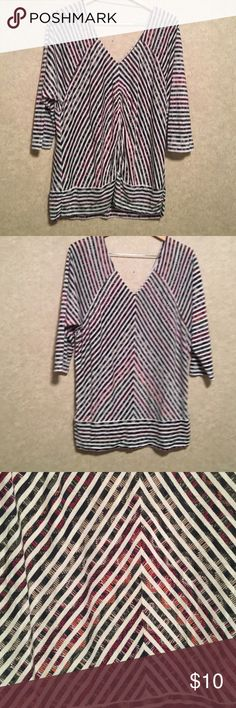 Tribal Jeans 3/4 sleeve top Very cute light weight shirt, great for summer! Tribal jeans Tops Tees - Short Sleeve