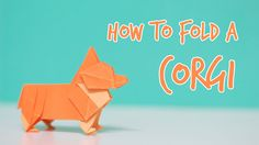 How to fold an Origami Corgi! This is the next tutorial of the origami animal tutorial series. This is the Welsh Corgi. Enjoy! If you liked this origami dog ...