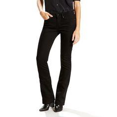 Women's Levi's 715 Modern Fit Bootcut Jeans, Size: 10/30 Avg, Black