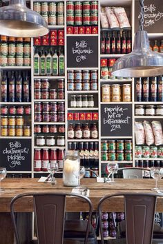 Retail Store Displays on Hasshe Images Coffee Shop Design, Cafe Design, Store Design, Shop Shelving, Retail Shelving, Wall Shelving, Shelving Design, Restaurant Design, Food Storage