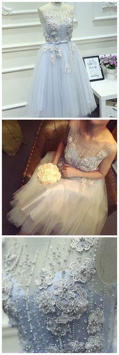 Short Homecoming Dress ,light Blue