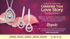 "Enter the ""Celebrate Your Love Story"" to win over $1500 in Free Diamond Jewelry! via; http://SJCelebrateYourLoveStorySweeps"