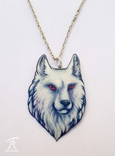 White Wolf Albino Direwolf Ghost Jon Snow Game of Thrones Song of Ice and Fire Stark Pendant Metal Necklace by TrollWorx on Etsy https://www.etsy.com/listing/256399222/white-wolf-albino-direwolf-ghost-jon  *star*