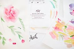 Behind the Stationery: Illustrated and Hand Painted Letterpress Stationery by Printerette Press / Oh So Beautiful Paper