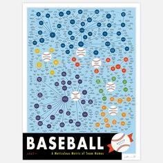 Fab.com | Pop Chart Lab Baseball Print - Taxonomy of Teams by Pop Chart Lab