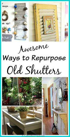 Repurpose Those Old Shutters (Craft Gossip)