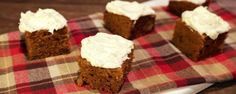 Ginger Pumpkin Bars with Cream Cheese Icing Recipe from Carla Hall. These got raves from the Chew Crew.