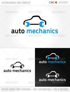 Auto Mechanics  - Logo Design Template Vector #logotype Download it here: http://graphicriver.net/item/auto-mechanics-logo-template/1068282?s_rank=144?ref=nexion