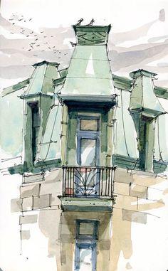 Upper Balcony by Shari Blaukopf