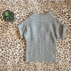 287e78f644e Express Sweaters - Express Gray Cowl Neck Short Sleeved Sweater Top Cool  Sweaters