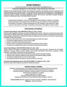 Resume Templates Project Manager Project Manager Resume Template