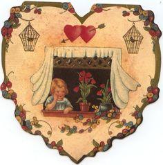 Cartoline vintage per San Valentino in giardino - un giardino in diretta