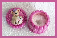 Tooth Fairy Holder with bear holding a tooth