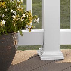 Shop Fiberon HomeSelect White Composite Deck Post Skirt at Lowes.com
