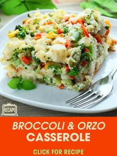The Chew's Daphne Oz contributed an easy side dish for any big family meal with her Broccoli & Orzo Casserole Recipe. http://www.recapo.com/the-chew/the-chew-recipes/the-chew-daphne-oz-green-giant-broccoli-orzo-casserole-recipe/