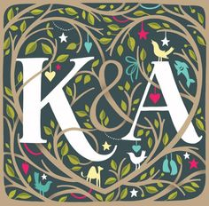 pretty pretty--i always see a K& an A---i guess it was meant to be :)-Kelly & Aaron