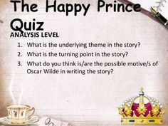 the happy prince analysis