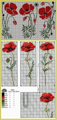cross-stitch poppy