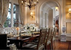 Home Interior : Classic Elegant Home Interior Design Of Old Palm Golf Club By Rogers Design Group Dining Room ~ Home Directory Classic Dining Room, Elegant Dining Room, Dining Room Design, Dining Rooms, Home Design, Home Interior Design, Design Hotel, Interior Ideas, Interior Decorating