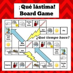 Spanish School Vocabulary Board Game | Student, Words and ...