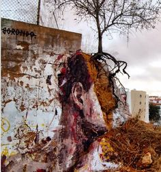 by Borondo for ARTURb art residency - Lagos, Portugal - September, 2014 (LP) #streetart jd