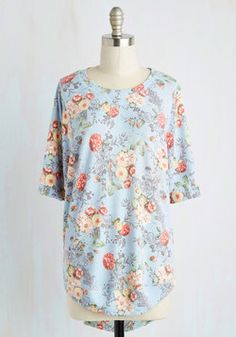 Best of Botanical Floral Top in Sky