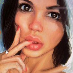Teaching myself to draw more realistic. Reference pic: Svetlana Bilyalova