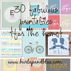 30 FABULOUS FREE PRINTABLES FOR THE HOME @ DIY Home Crafts. Want to check this out later