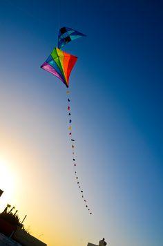 Flying kites on Daytona Beach :)