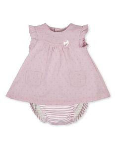 Vestido de bebé niña Tutto Piccolo algodón con estampado
