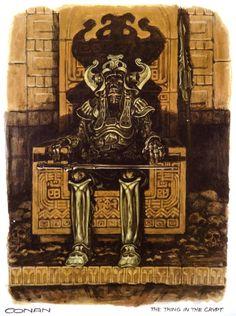 Conan the Barbarian - Concept Art by Ron Cobb (1979-1980)
