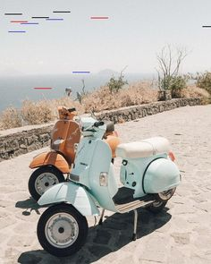 Vacation Goals: Riding On A VespaYou can find Vintage vespa and more on our website.Vacation Goals: Riding On A Vespa Vespa Lx, Piaggio Vespa, Vespa Scooters, Scooter Scooter, Vintage Vespa, Vintage Cars, Photo Wall Collage, Picture Wall, Vespa Tattoo