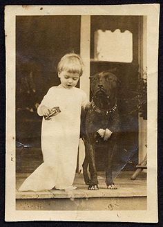 Another Victorian Child with her Protector and Loved Pet, a Bully Dog. In Victorian Times the Pit Bulls & Mixes were Considered Nanny Dogs...They Took Care of the Children.