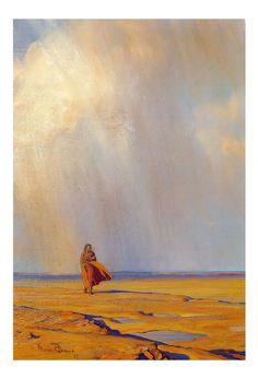 Desert Shower by Maynard Dixon (American, 1875 - Maynard Dixon, Desert Art, Indigenous Art, Portraits, Art Reproductions, Vintage Art, Westerns, Shower, Art Prints