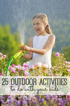Spring is finally here! 25 fun outdoor activities for kids. My kids are obsessed with #22!