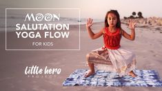 Moon Salutation, Childrens Yoga, Yoga For Kids, Yoga Flow, Things To Think About, Poses, Videos, Figure Poses, Kid Yoga