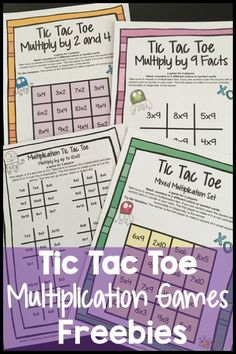 FREEBIES - Facts Tic Tac Toe Math Games Freebie from Games 4 Learning combines the fun of Tic Tac Toe and with practice of basic multiplication facts. It includes 3 Tic Tac Toe Multiplication Game Boards and 1 Print and Play Game Sheet. 5th Grade Math Games, Fun Math Games, Third Grade Math, Math Activities, Maths Fun, Fourth Grade, Second Grade, Math Meeting, Multiplication Games
