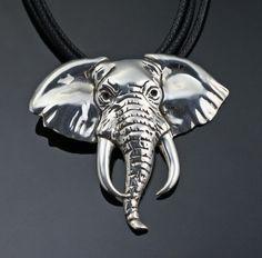 Elephant Face Pendant
