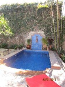 Solar heated salt water swimming pool in Lake Chapala