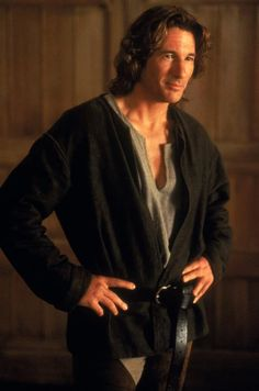 """""""I dare not kiss so lovely a lady.  I have but one heart to lose.""""  Richard Gere as Sir Lancelot in First Knight. *sigh* He is beautiful!"""