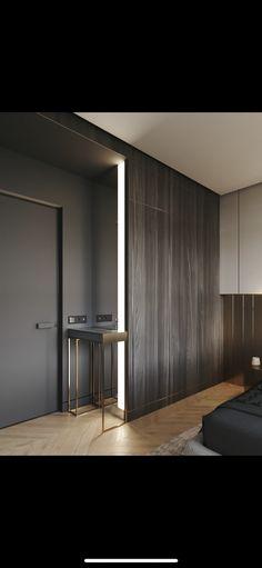 Light wood bed room furniture interiors ideas for 2019 Decor Interior Design, Furniture Design, Interior Decorating, Interior Ideas, Wardrobe Design Bedroom, Bedroom Decor, Bedroom Lighting, Renovation Design, Door Design